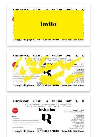 RISVOLTI DELL'ABITO // Trame del corpo Art exhibition