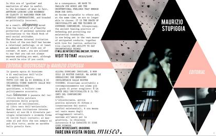 Graphic editorial Lazagne art magazine