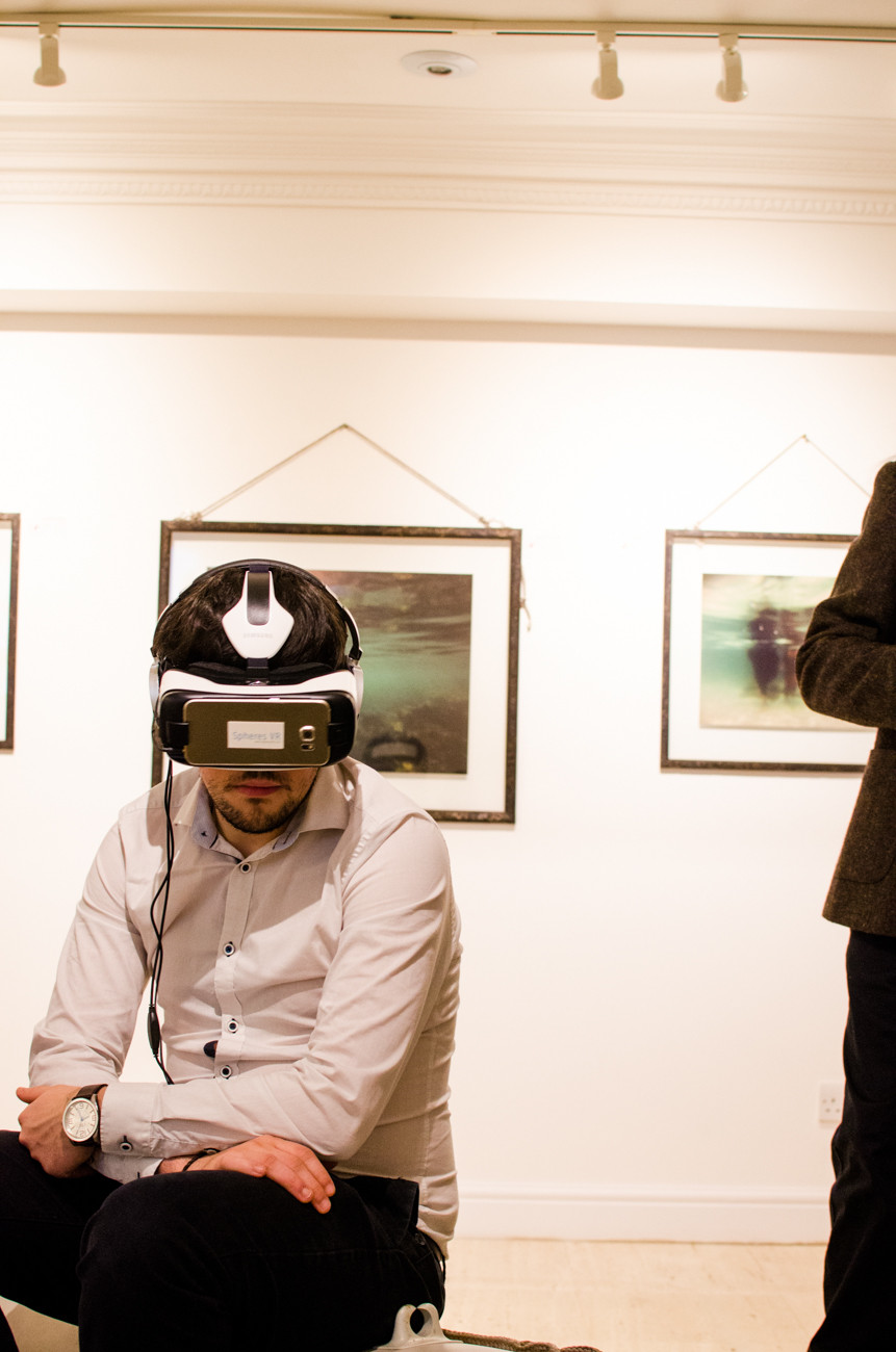 Visitors trying Virtual Reality handsets