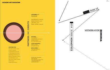 graphic by anna bertozzi editorial Lazagne magazine