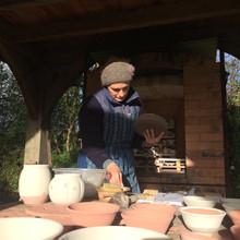 Packing the kiln before firing