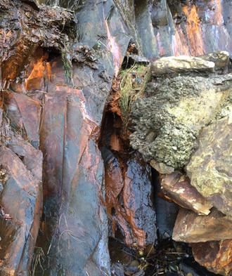 Iron leaching rocks