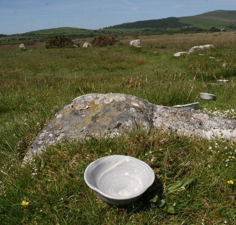 One hundred and eight offering bowls placed in the Gors Fawr stone circle.