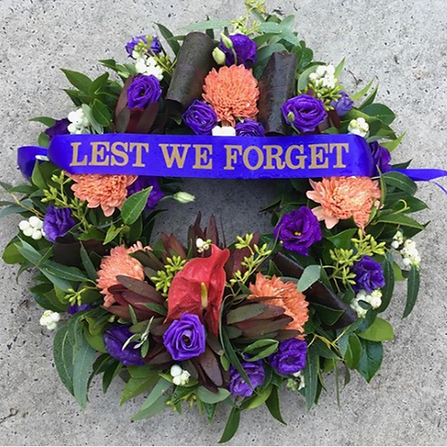 Anzac / Remembrance Floral DeVine Hunters Hill Florist Fresh Flower Wreath Daily Delivery Gladesville Woolwich Lane Cove Pu