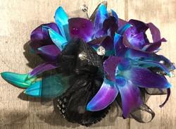 Orchid & Diamante Elaborate Corsage