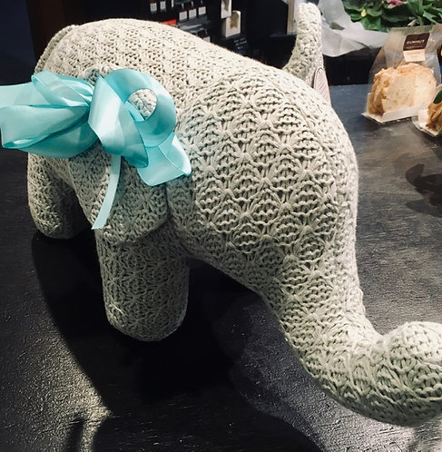"Elephant - Large Soft Toy ""knitted"" Habitat 101 Floral DeVine Hunters Hill"