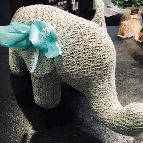 """Elephant - Large Soft Toy """"knitted"""" Habitat 101 Floral DeVine Hunters Hill"""
