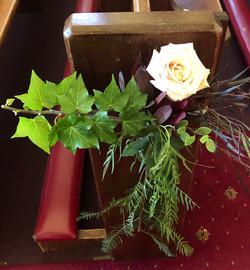 Pew Flower Decoration