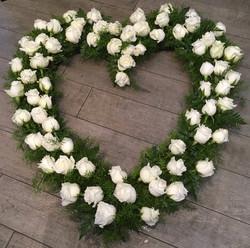 Premium White Heart Memorial