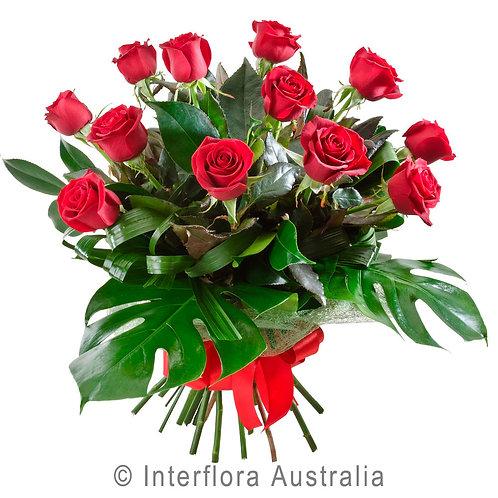 Hunters Hill Florist Temptation Red Pink White Rose Bouquet Dozen 12 24 Gladesville Woolwich Putney Drummoyne Ryde