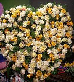 Premium Full Yellow Rose Heart