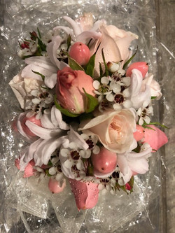 Small Round Pink Corsage