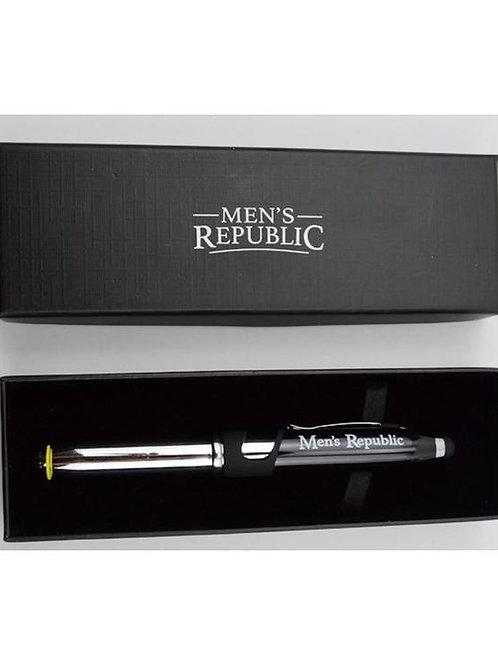 Men's Republic Stylus Pen Multifunction 4-in-1 . Black