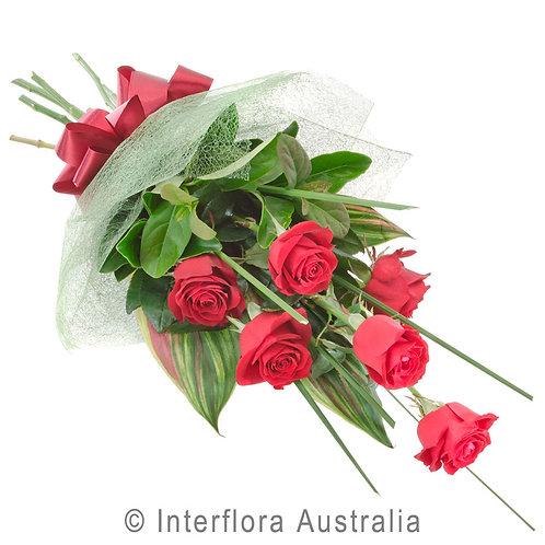 Floral DeVine Hunters Hill Florist Affection Red Pink White Rose 1/2 Dozen 6 Gladesville Woolwich Putney Drummoyne Ryde