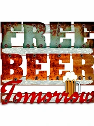 Men's Republic Retro Metal Sign - Free Beer Tomorrow