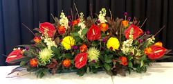 Bright Long Table Arrangement