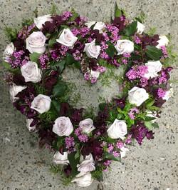 Large Open Heart Purple