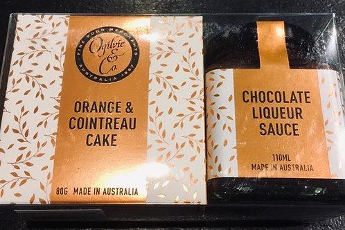 Ogilvie Orange & Cointreau Cake & Chocolate Liqueur Sauce Gift Pack