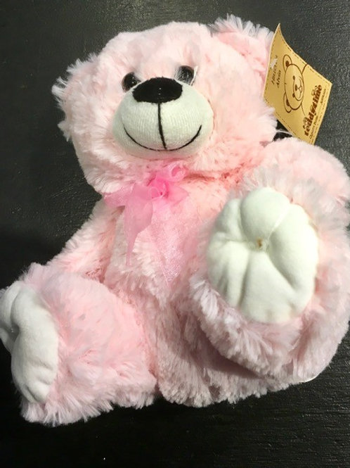 Pink Teddy Baby Soft Toy Floral DeVine Hunters Hill Delivery Gladesville Woolwich Drummoyne Five Dock Putney Ryde Lane Cove
