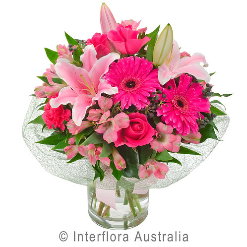 Floral DeVine Hunters Hill Florist Pink Seasonal Flower Bouquet Delivery Gladesville Woolwich Lane Cove Putney Drummoyne Ryde