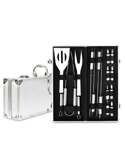 Men's Republic 16 Piece BBQ Set in Aluminium Case