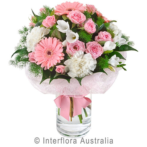 Floral DeVine Hunters Hill Pink White Flower Bouquet Daily Delivery Gladesville Woolwich Lane Cove Putney Drummoyne Ryde