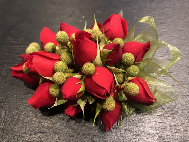 Red Rose & Berzillea Corsage