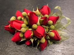 Red Rose & Berzillea Corsage
