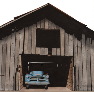 """Desha County Barn with Chevy"""
