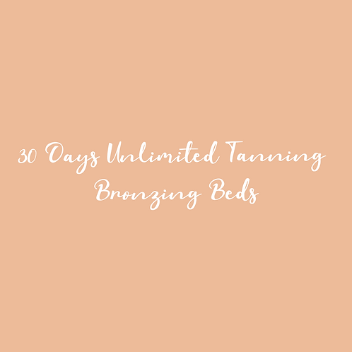 Month Of Unlimited Tanning Bronzing Beds