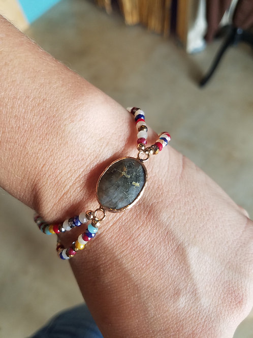 Colorful Beed & Stone Bracelet