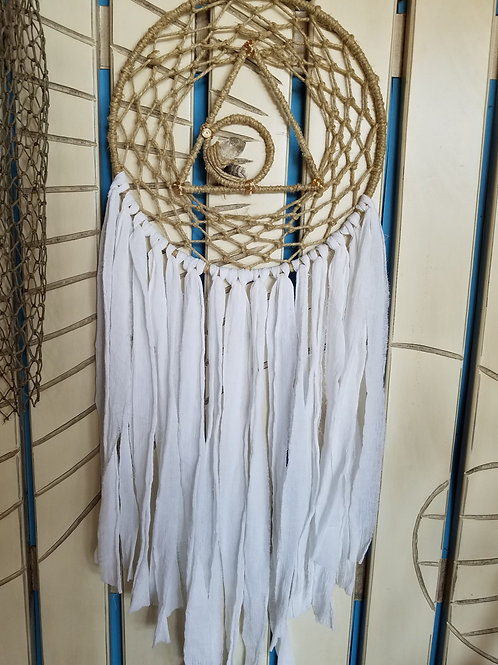 Crystal Tringle Dreamcatcher White