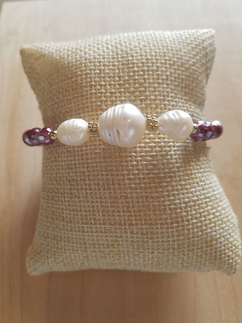 Multi Pearl Beaded Bracelet