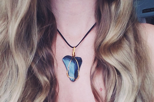 Wire Wrapped Megalodon Tooth Pendant