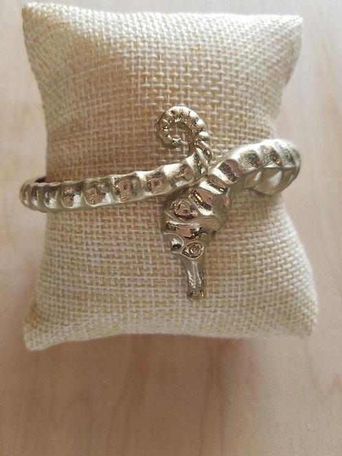 Gold Seahorse Cuff