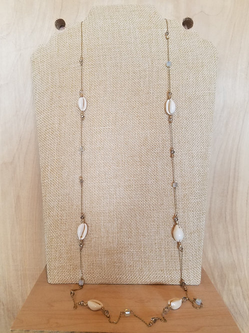 Long Cowrie Shell Necklace
