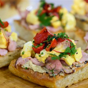 Deviled Egg Toast