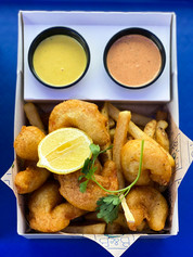 Fried Fish Plate with Fries