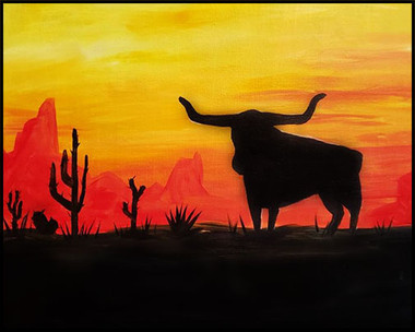 Longhorn Sunset