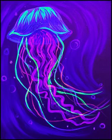 Blacklight Jellyfish