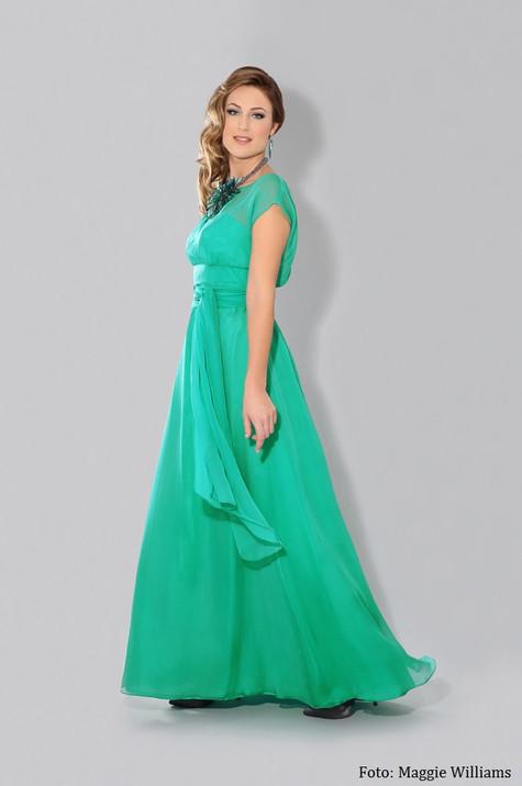 Grön sidenklänning