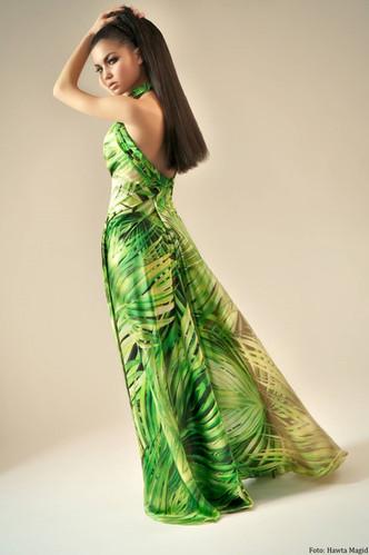 Långklänning grön