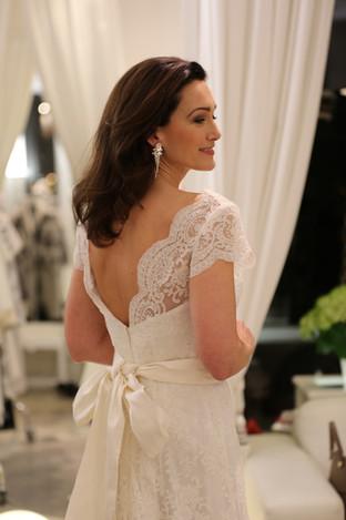 Brudklänning spets