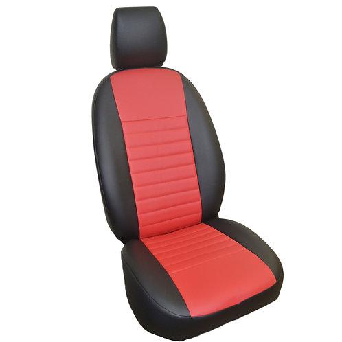 Автомобильные чехлы, черный/красный. Hyundai Solaris (2017н.в.)