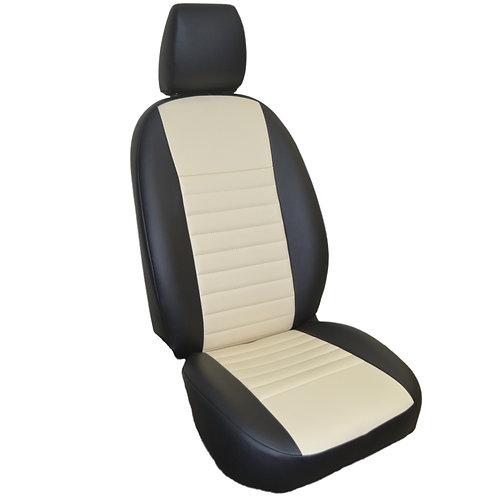 Каркасные авточехлы черный/бежевый. Gelly Emgrand X7 (2016 – н.в.)