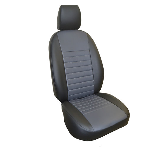 Каркасные авточехлы, черный/серый. Hyundai Getz (2002-2011г.в.)