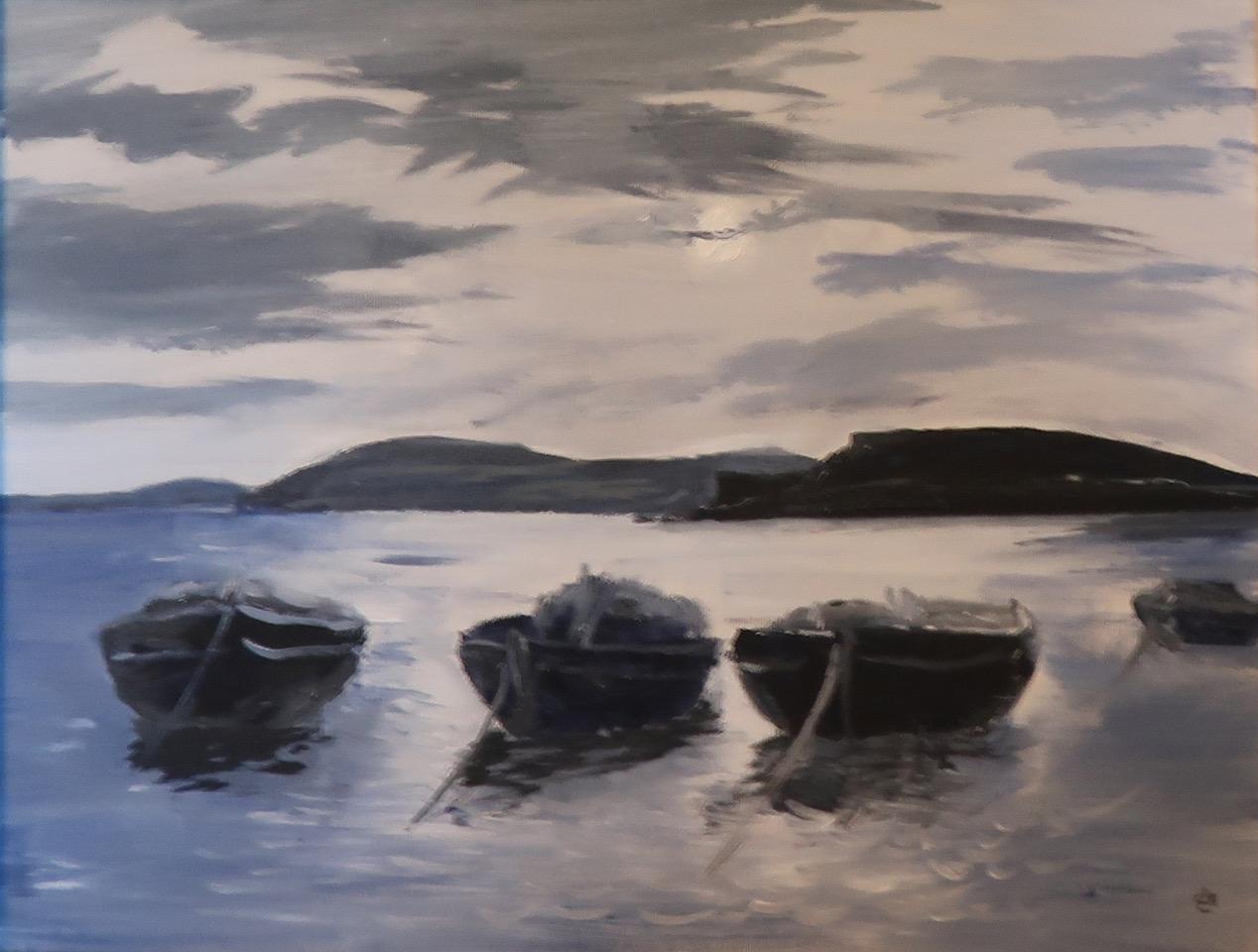 Boats in moon light