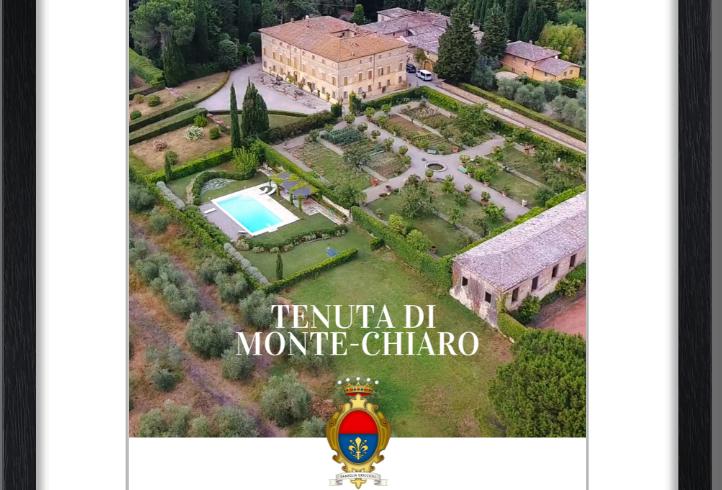 Monte Chiaro framed posters: The Villa