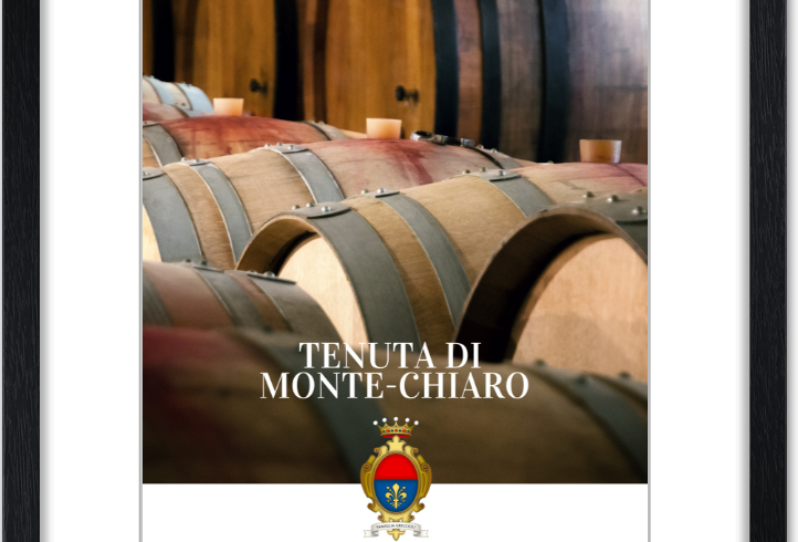 Monte Chiaro framed posters: barriques