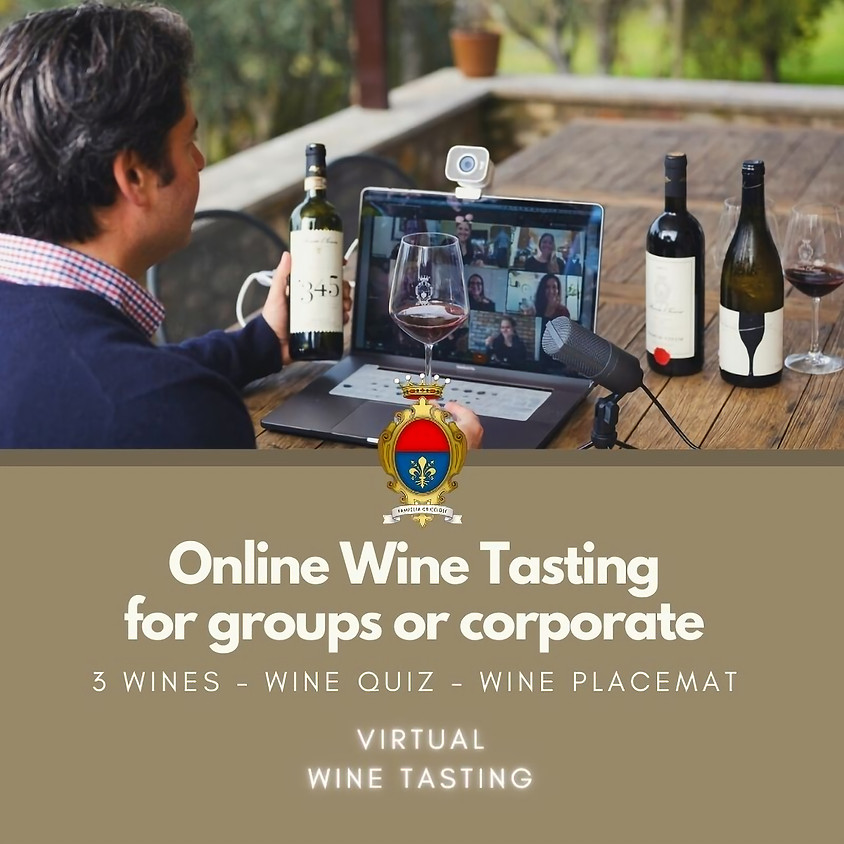 Online Tasting for Groups or Corporates Events